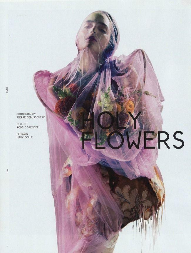"""Holy Flowers""   Model: Zuzanna Bijoch, Photographer: Pierre Debusshcere, Dazed & Confused, October 2012"