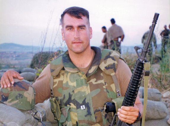 Rob Riggle is a Lieutenant Colonel in the U.S. Marine Corps Reserve who served in Liberia, Kosovo and Afghanistan. If you see him performing at a comedy club, you probably don't want to heckle him.