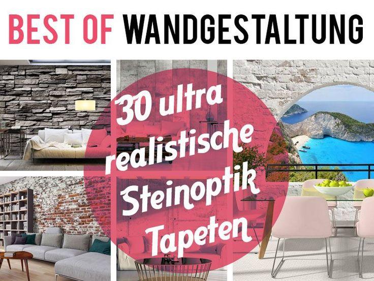 Wohnzimmer Tapeten Steinoptik : Tapete Steinoptik auf Pinterest Betonwand, Steinoptik und Tapeten