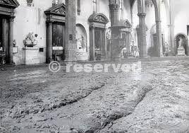 Santa Croce during flood Florence 1966