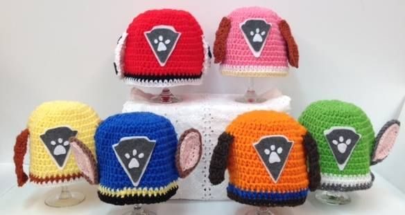 Paw Patrol crochet hats available now! Handmade to order ...
