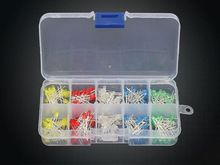 US $2.50 Ied Diode light-emitting Diodes Universal 200pcs/box 3mm LED Light Assorted Kit Red Green Blue Yellow White DIY LEDs Diode Set. Aliexpress product