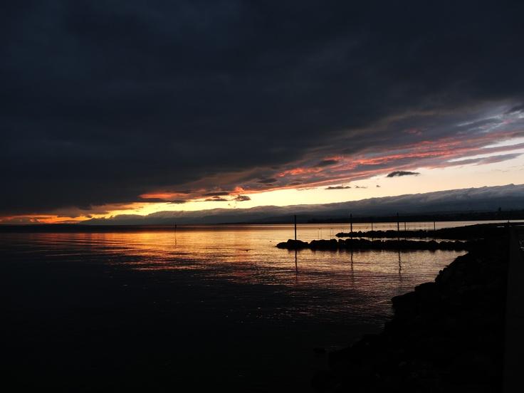 Lac Léman (Lake Geneva). Lausanne, Switzerland.