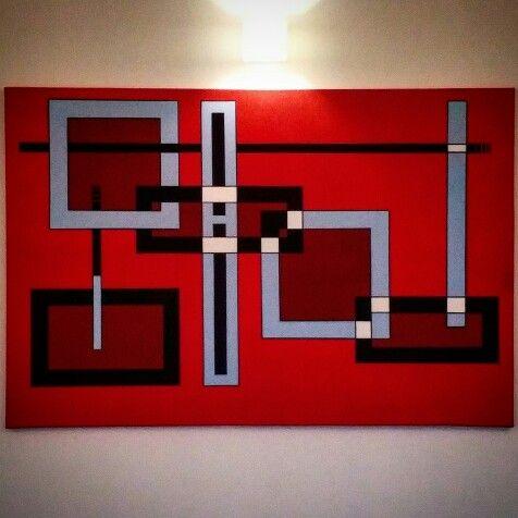 Pittura geometrica - acrilico su tela - I Legami della vita -  Gaetano Massaro - Palermo - 6/2015