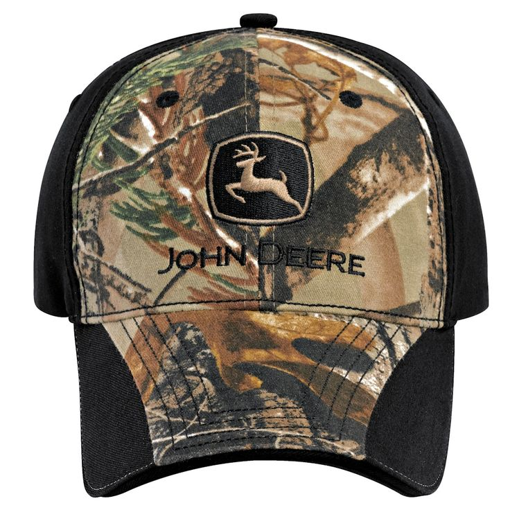 John Deere RealTree AP Camo Black Cloth Cap