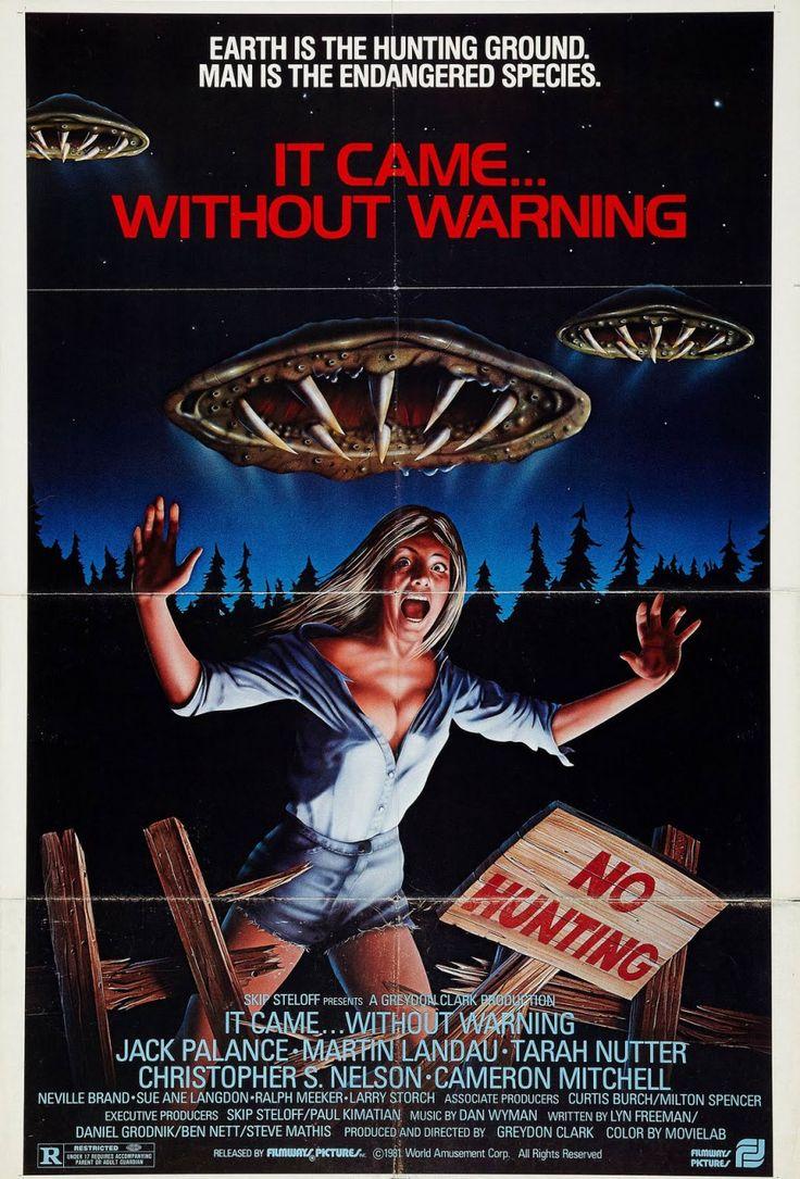 Without Warningis a 1980science fictionhorror filmstarringJack Palance,Martin Landau, Tarah Nutter, andKevin Peter Hall(Predator), directed byGreydon Clark(Satan's Cheerleaders, Uni…