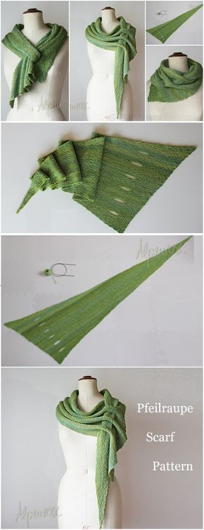 Free Pattern for Adjustable Scarf – Pfeilraupe