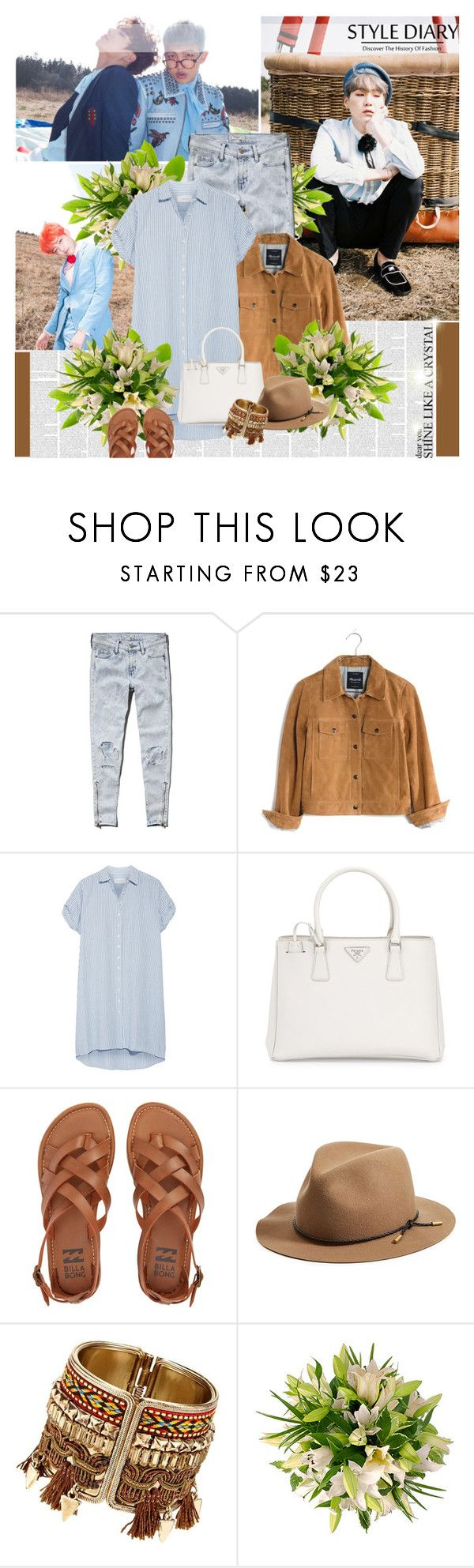 """""""Forever ever ever, we are young"""" by lisannevicious ❤ liked on Polyvore featuring Abercrombie & Fitch, Madewell, The Great, Prada, Billabong and rag & bone"""