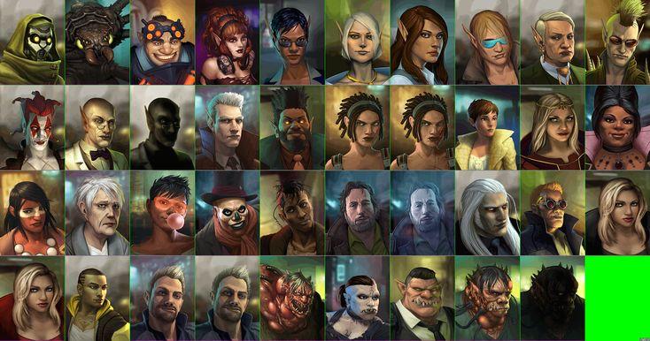 Shadowrun Returns - NPC Portraits