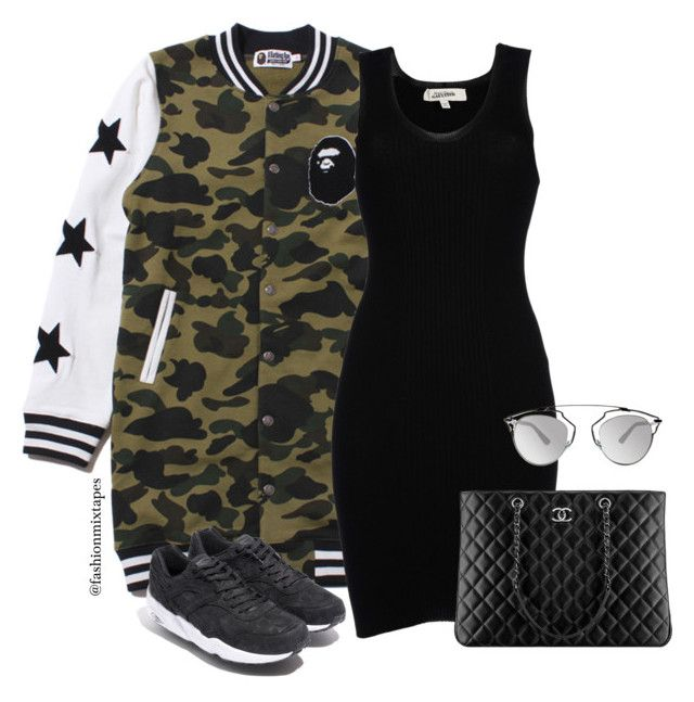 """""""Puma X Bape"""" by divamanda ❤ liked on Polyvore featuring Jean-Paul Gaultier, Chanel, Christian Dior and A BATHING APE"""