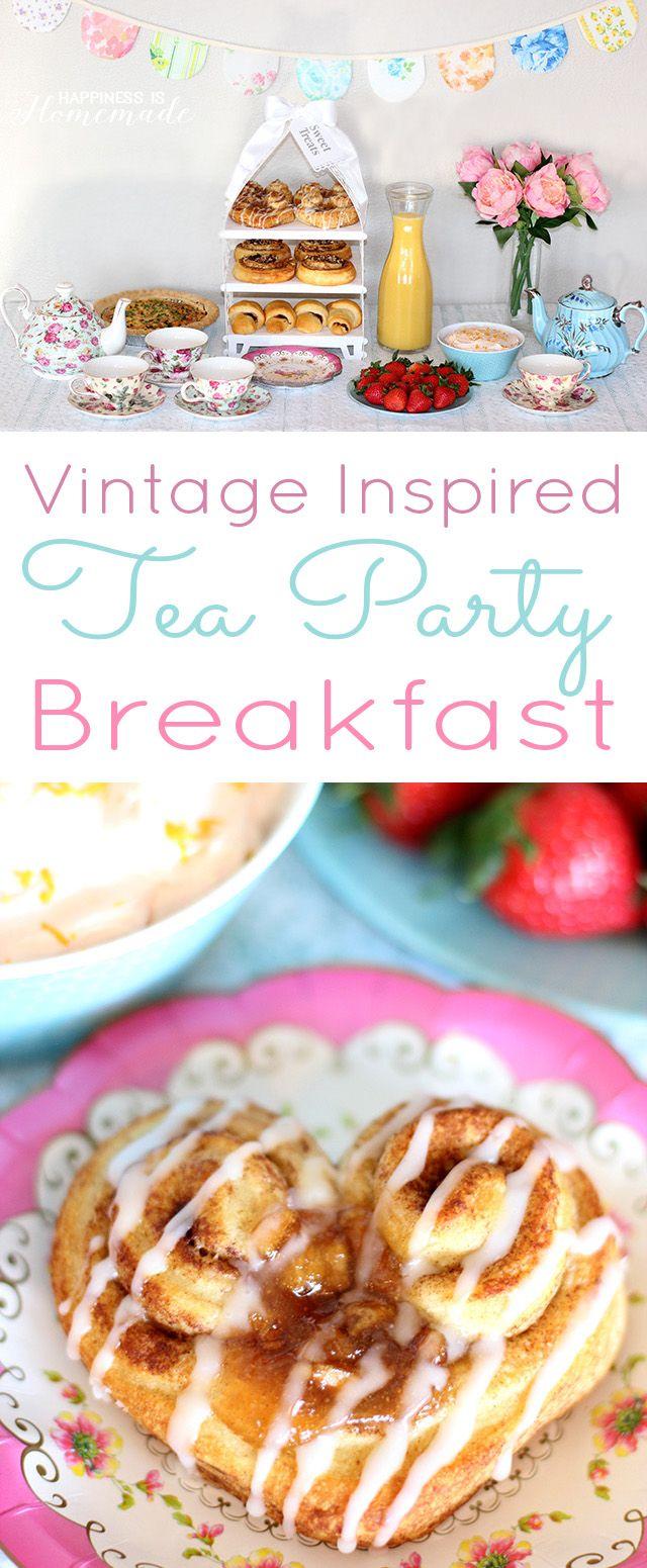Vintage Inspired Tea Party Breakfast - easy ideas to #WarmUpYourDay! #cbias #ad