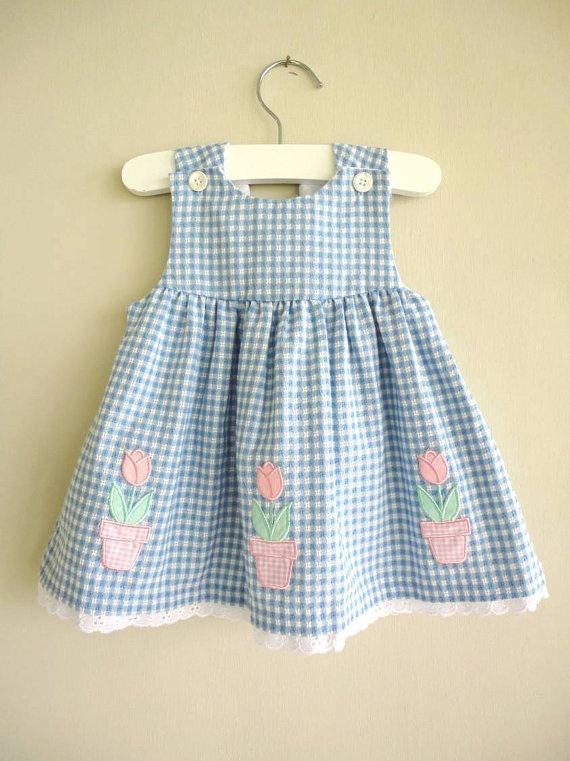 Gingham flower dress