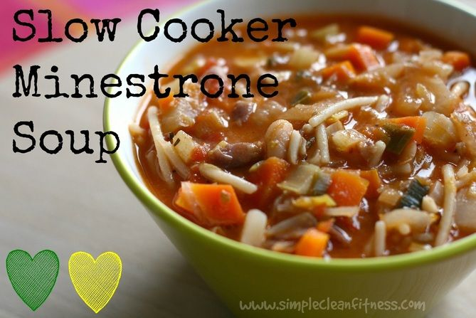 Slow Cooker Minestone Soup - 21 Day Fix Recipes - Clean Eating Recipes Healthy Recipes - Dinner - Lunch  weight loss - 21 Day Fix Meals - www.simplecleanfitness.com