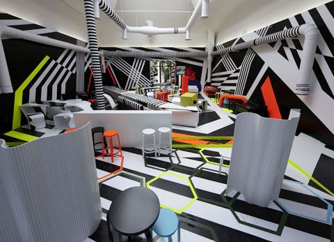 Black And White Cafe Interior Design Photos