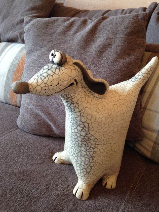 Stentøj Hund Keramik