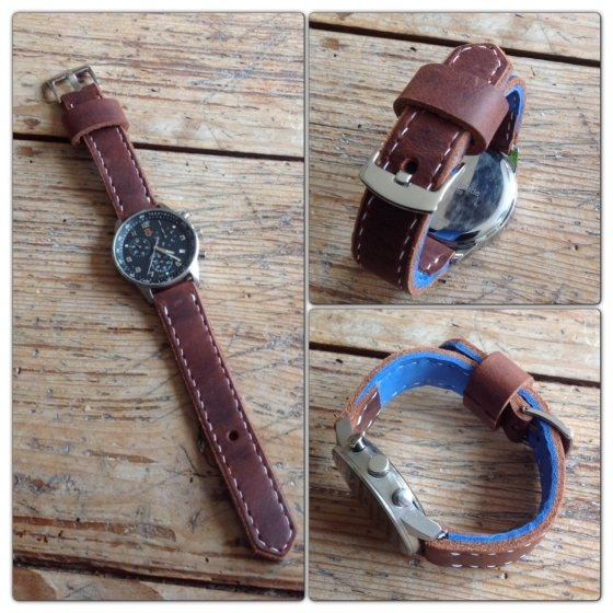 Handmade leather watch strap by TheCrazySmile