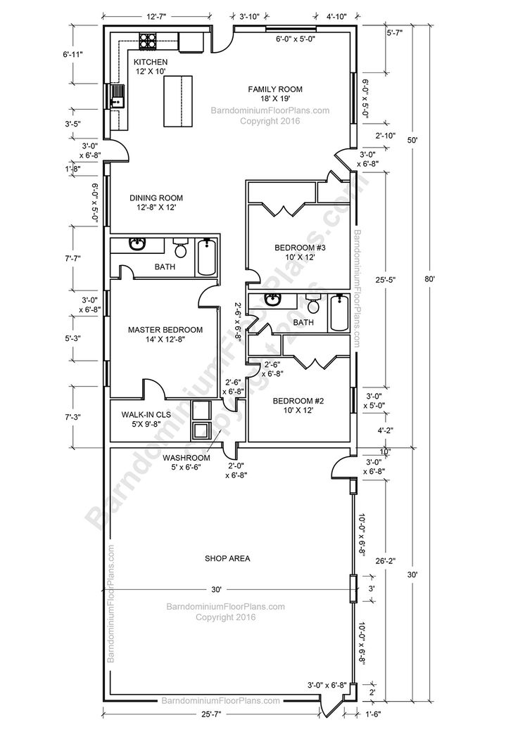 Barndominium floor plans pole barn house plans and metal for House and barn combination plans