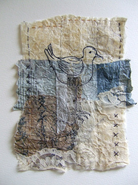 Textiles explored workshops work by Clare Wasserman in cas holmes workshop. Paper and lace.