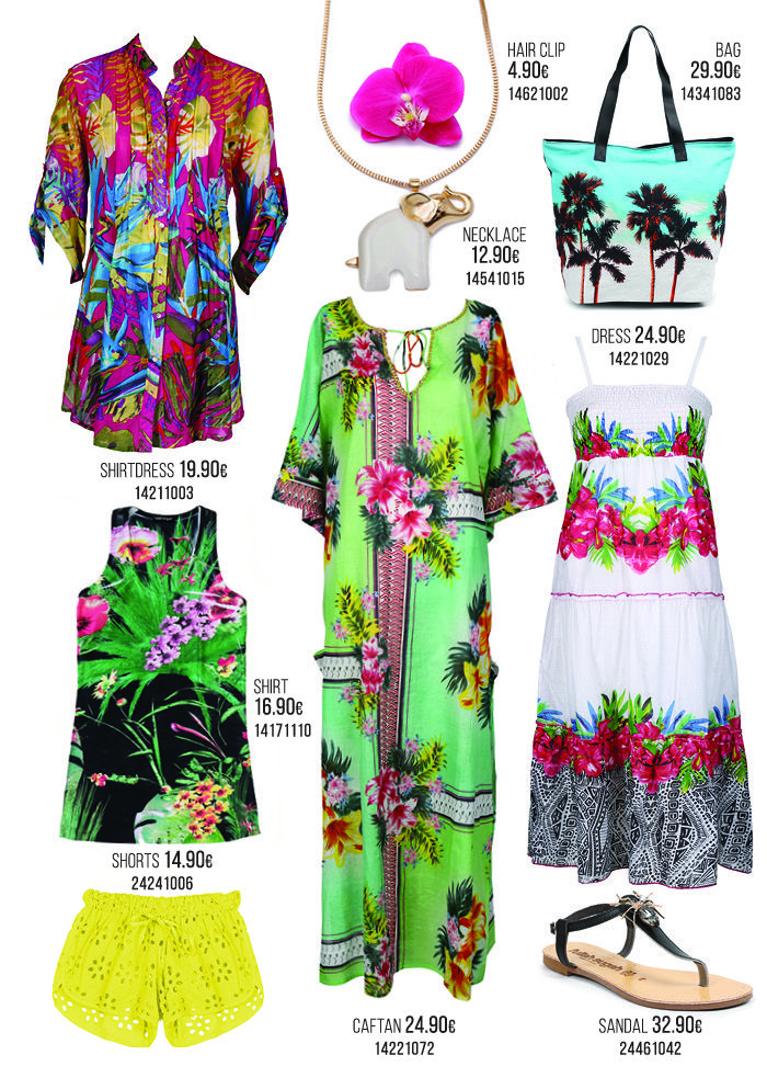 It's all about style & comfort with our favorite easy pieces. Think of sun dresses & caftans, pareos & beach bags, statement bikinis and all the beach essentials for a clashing fresh look!