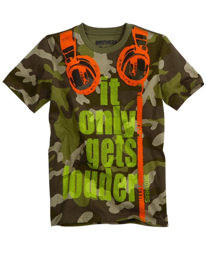 It Gets Louder Tee | Tops | Clearance | Shop Brothers  (Rock, Camo, Trompe l'oeil)