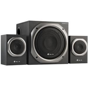 Sistema de sonido 2.1 NGS Trance. Control bajos y agudos. +info: http://www.ngs.eu/es/audio/altavoces/ngs-multimedia-2.1-speaker-trance/AUDIO/NGS-SPEAKER-0079/