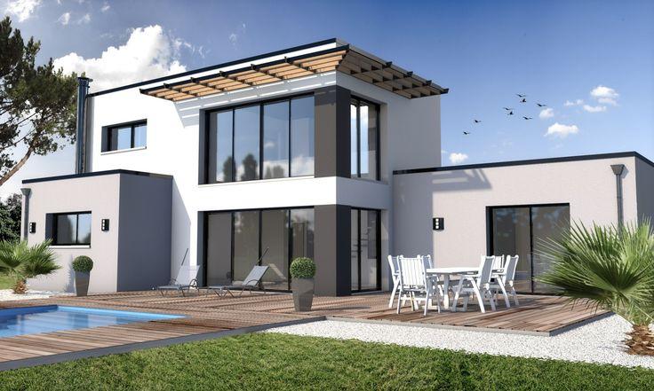 Constructeur maison moderne la turballe loire atlantique for Constructeur maison 18