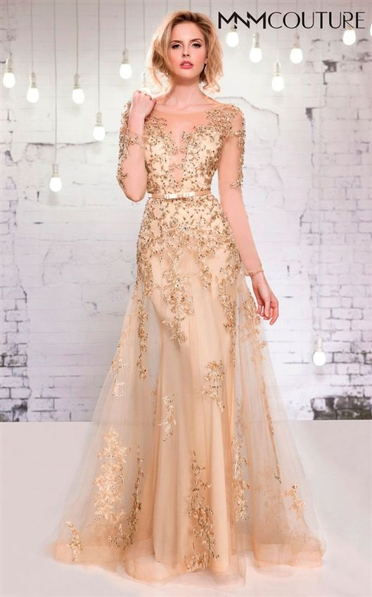 Plus Size Gold Gown