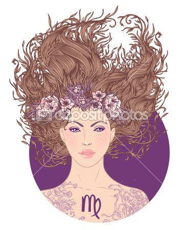 Signe astrologique vierge — Illustration #37536115
