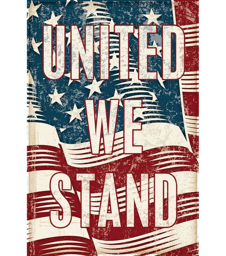 Fabric Flag 12''x18''-United We Stand