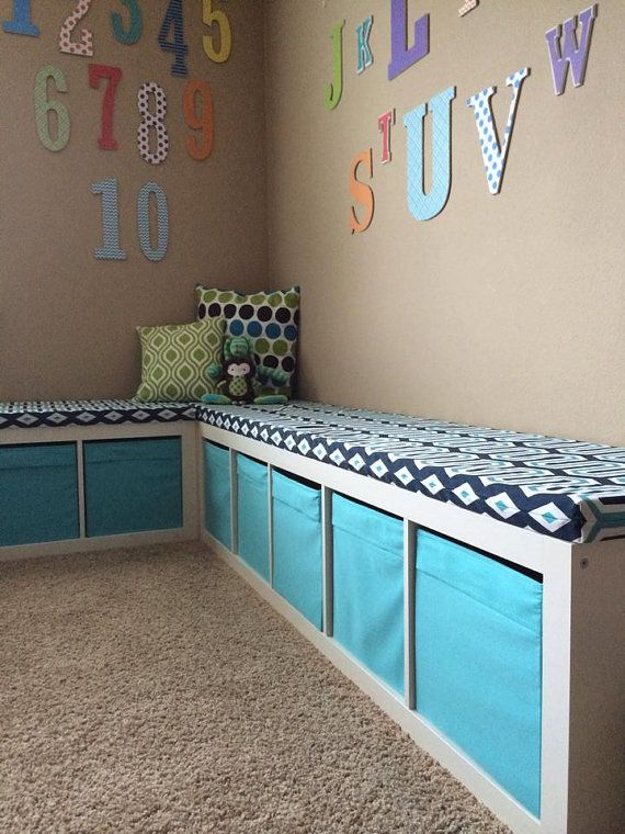 Bench Cushion Covers Only Window Seat Cushion by AveryleeDesigns, $80.00 Reading nook area for Abigail's room