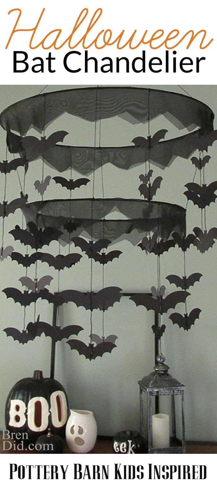 Easy Bat Chandelier Inspired By Pottery Barn Kids