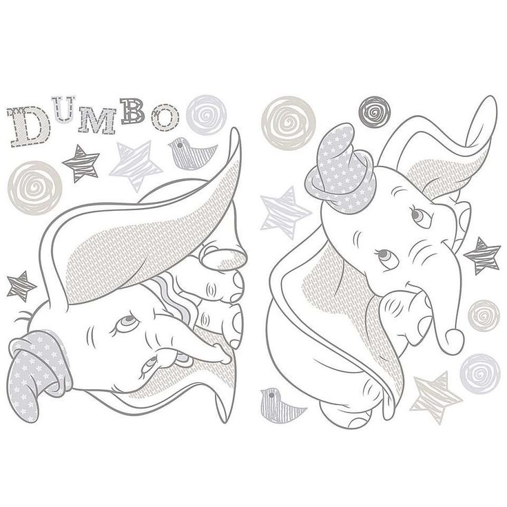 Disney Dumbo Wall Sticker Dunelm Disney Pinterest