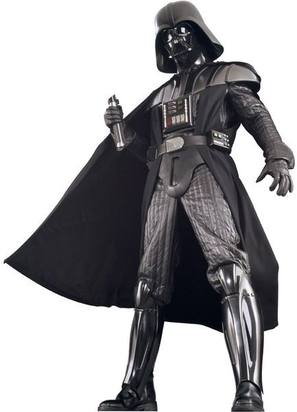 Darth Vader Collector's Edition. Tämä asu on Star Wars Darth Vader lisensoitu keräilijän kappale. Tämä asu muuttaa sinut hetkessä avaruuden pahimmaksi hepuksi. Tuote on valmistettu alkuperäisillä Lucas studioiden kaavoilla ja muoteilla. Sisältää: - Haalarin - Viitan - Kauluksen - Hartiasuojat - Kengänpäälliset - Rintapanssarin - Vyön - Maskin - Kypärän