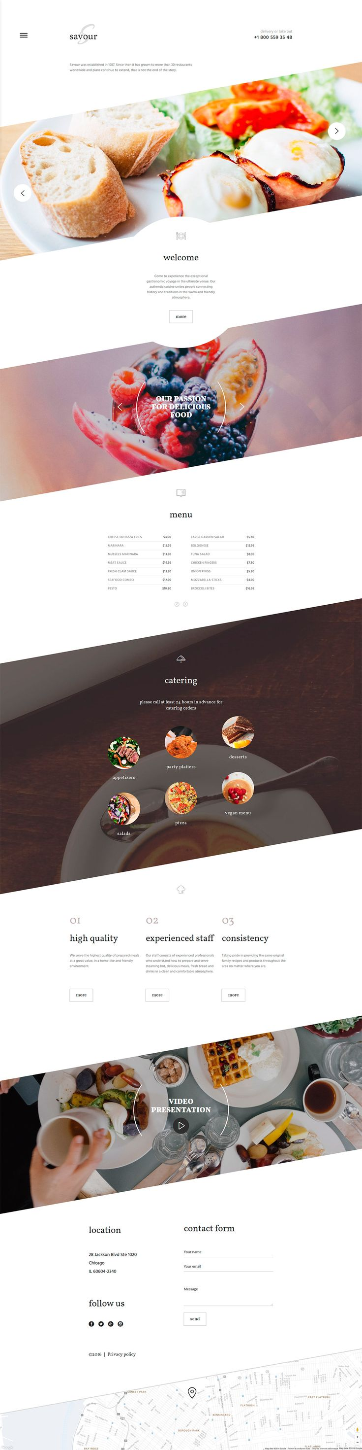 Luxury Restaurant Website Theme #website #web #themes #business #responsive #restaurant #food #websitethemes