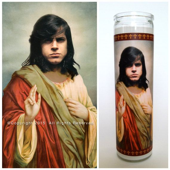 "'Saint' Glen Danzig depicted on a custom made 9"" Prayer candle. The perfect gift for Danzig / Misfits fans"