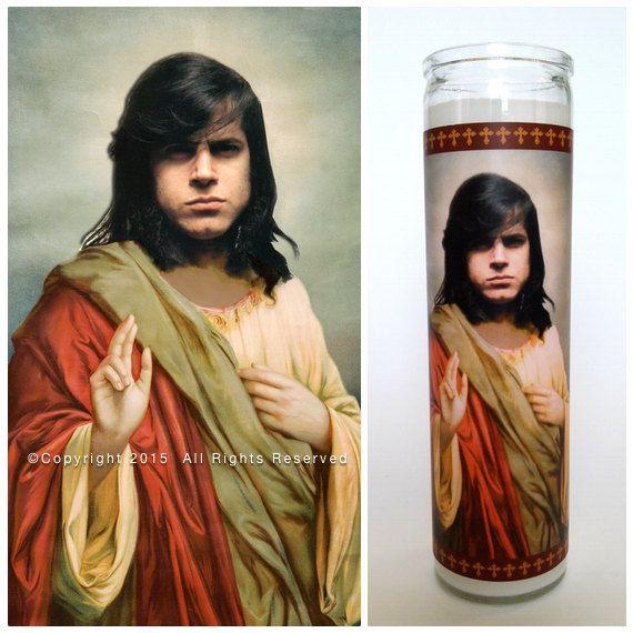 "Glen Danzig Prayer Candle. Saint Danzig! Great Gift! Premium Handmade 9"" Soy Candle!"