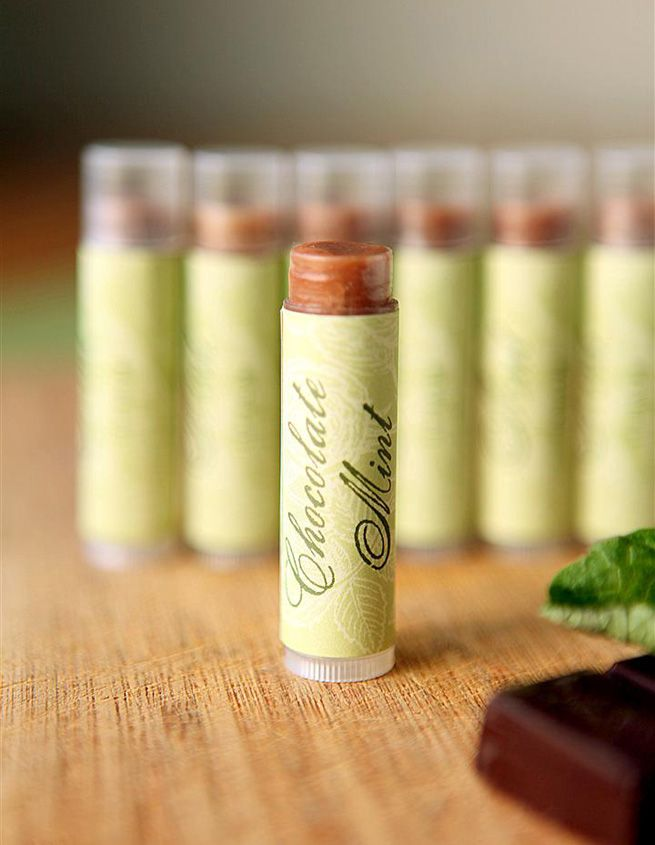 Chocolate Mint Lip Balm | • 1T cocoa butter • 1T sweet almond oil • 1T castor oil (sub olive or coconut oil) • 1T grated beeswax • 1/2t  carnauba wax (sub more beeswax) • 8 drops peppermint essential oil • 7 drops spearmint essential oil (skip essential oils, add 1/2t vanilla extract) • 1/2t cocoa powder