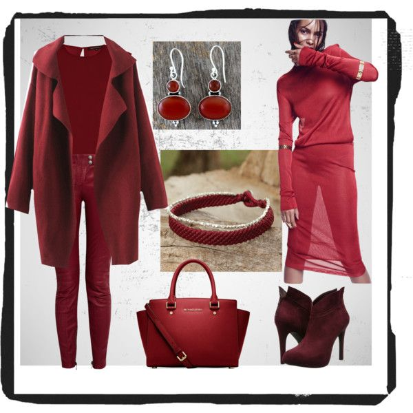 look bordo by asya-gorelkina on Polyvore featuring polyvore fashion style French Connection Balmain Jessica Simpson Michael Kors NOVICA