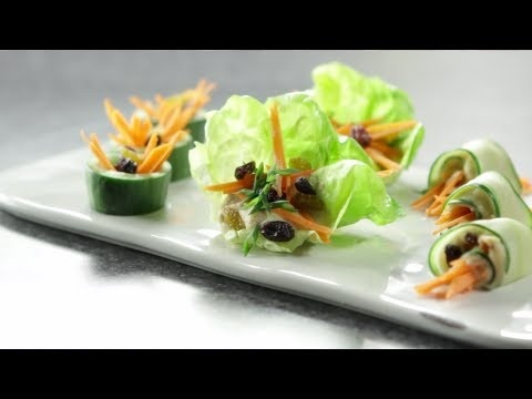 How to Make Cucumber Sushi Rolls & Hummus Vegetable Cups | Thats Fresh with Helen Cavallo | Babble