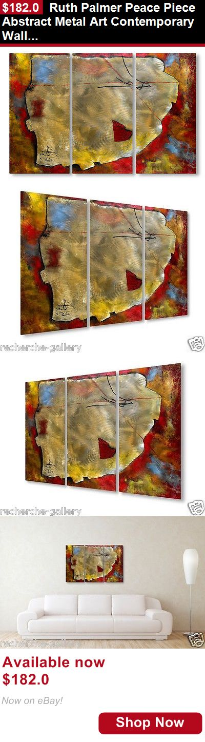 Sculpture art: Ruth Palmer Peace Piece Abstract Metal Art Contemporary Wall Sculpture BUY IT NOW ONLY: $182.0