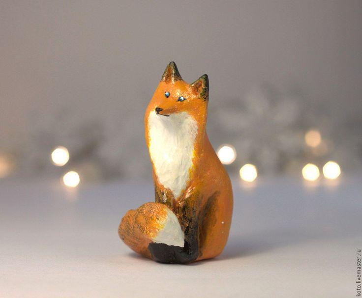 Купить Ёлочная игрушка Лиса на прищепке - рыжий, лиса, лисица, лисичка, елочная игрушка лиса