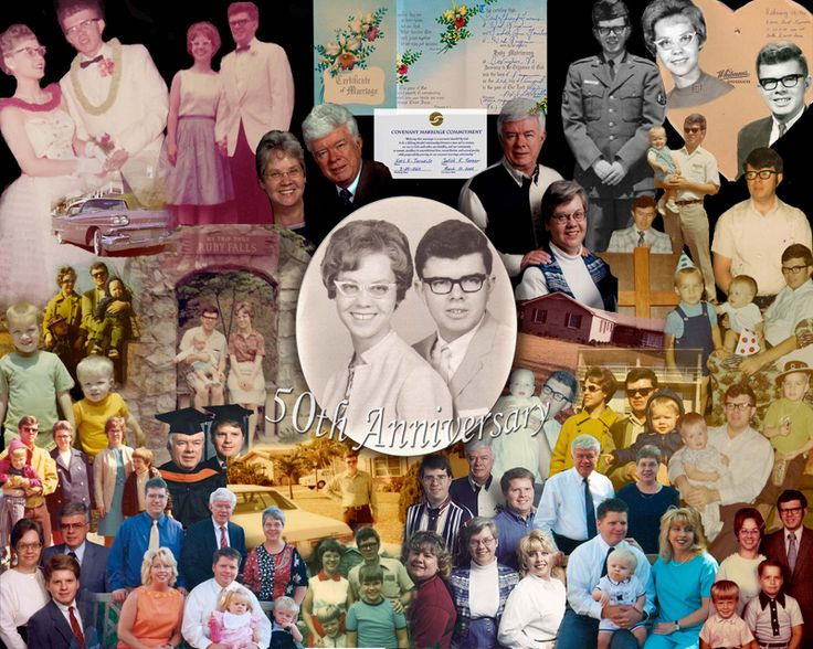 50th Wedding Anniversary Collage Photo Ideas Order Online Unique That Can