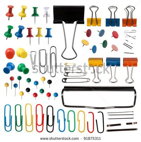 Pins and paper clips collection