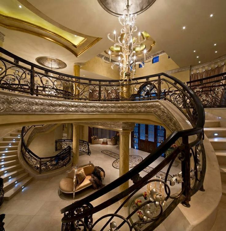 Mansion luxury staircase million dollar homes of the rich