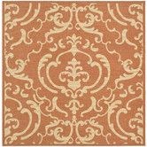 This is for the patio - Courtyard Terracotta / Natural Rug
