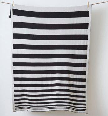 LET LIV - Kate & Kate Original Blanket & Throw in Black & Grey