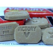 Victory V Lozenges | 'Forged for Strength' in packs of five.
