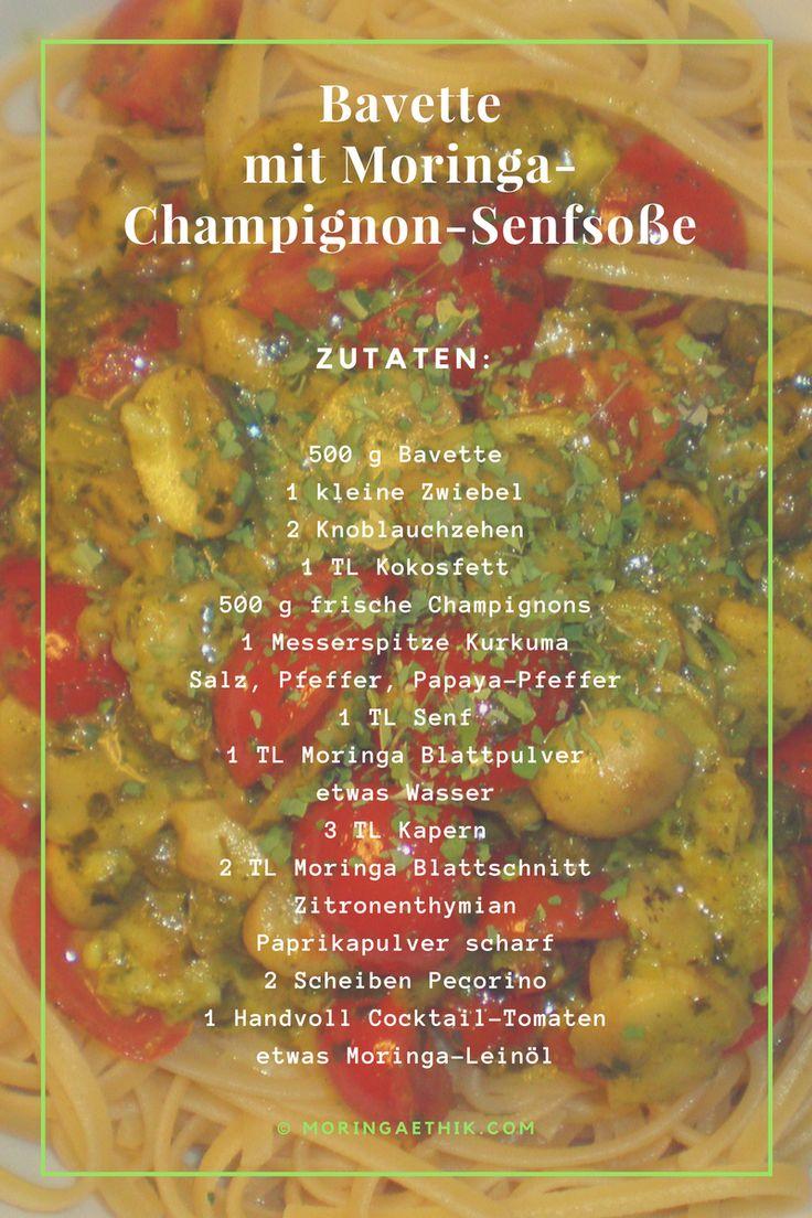 Bavette mit Moringa-Champignon-Senfsoße - Moringa Ethik