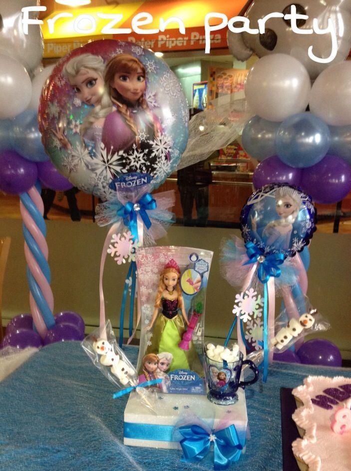 415 best frozen balloon decor images on pinterest for Frozen balloon ideas