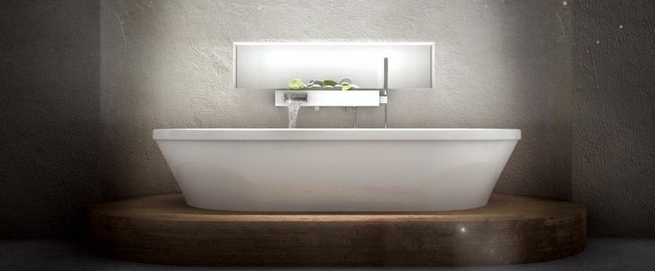 Bainultra Amma® OVAL 7242 freestanding narrow base air jet bathtub for two